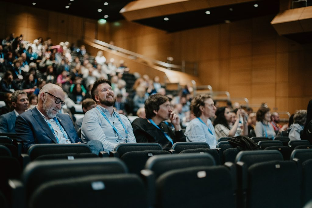 Audience at World Anti-Bullying Forum 2019 smmiling while listening to speaker